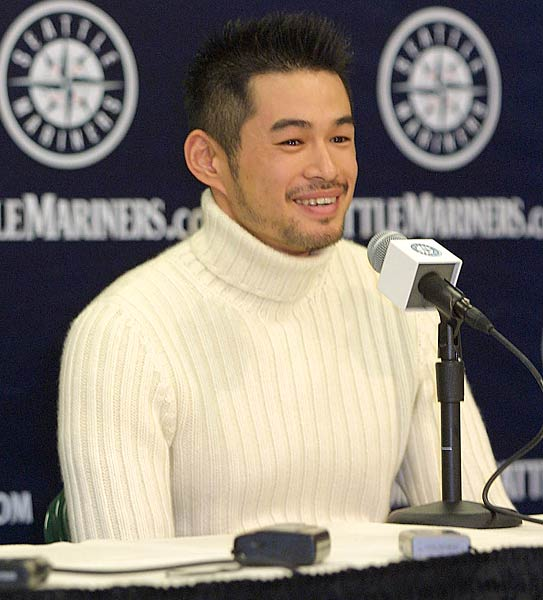 Ichiro Suzuki becomes only the second player in major league history to win the Most Valuable player Award in the same year as being selected Rookie of the Year. The 28-year-old Mariner outfielder joins Red Sox freshman outfielder Fred Lynn, who accomplished the feat in 1975, as the only other rookie to win the MVP.