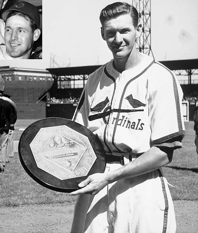 In what can best be described as a good hitting season for a shortstop, the Cardinals' Marty Marion .267 with six home runs, 63 RBIs and 50 runs scored. It was still enough to beat out Chicago's Bill Nicholson by one point for the MVP. For the year, the Cubs' outfielder batted .287, hit 33 home runs and drove in 122.