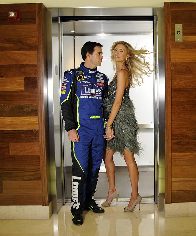 In advance of Jimmie Johnson appearing on the cover of Nov. 24th issue of SI, the magazine took a series of photos of the now three-time NASCAR season champion and his wife, Chandra. Here are some of the pictures from that shoot.