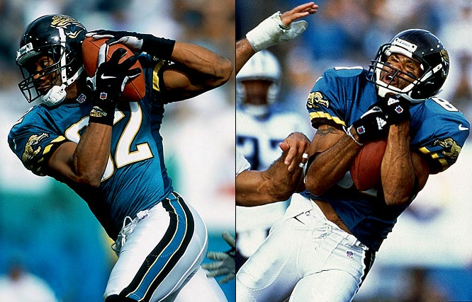 This is an often overlooked pairing that flourished despite not having an elite quarterback or a pass-first offense. Consider the combined stats for their first four years together: 671 catches, 9,462 yards and 44 TDs. In four of their six seasons they each surpassed 1,000 receiving yards.