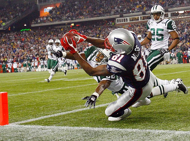 Randy Moss reels in a 16-yard touchdown pass from Matt Cassell with one second remaining in regulation. The score capped an eight-play, 62-yard drive that lasted 1:03. Stephen Gostkowski's ensuing PAT sent the game into overtime.