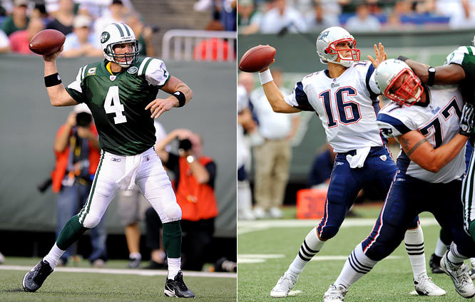 In Week 2, the Jets and new quarterback Brett Favre hosted the Patriots and their new starting QB, Matt Cassel, who was replacing the injured Tom Brady. Despite the mismatch in experience, the Patriots controlled the game and pulled out a 19-10 victory.