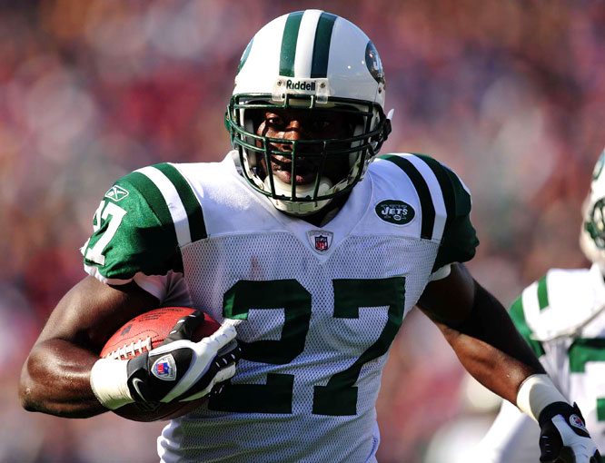 The Jets' Abram Elam, starting in place of injured safety Eric Smith, returned an interception thrown by Trent Edwards 92 yards for a touchdown, sparking a 26-17 win over the Bills.  Elam also deflected two passes, and his interception was the first in his three-year career.
