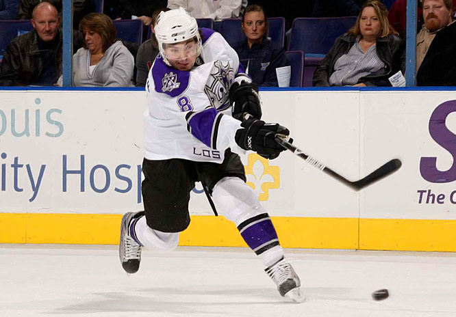 If you've got any inclination to gamble on such things, you might want to put your money on Doughty for the Calder. The 18-year-old didn't simply make the Kings lineup out of camp. Within a month, he became their No. 1 defenseman, logging workhorse minutes and helping Los Angeles limit opposing teams to a league-low 24 shots per game. The last time a rookie blueliner dominated like this? Try Ray Bourque in 1979.