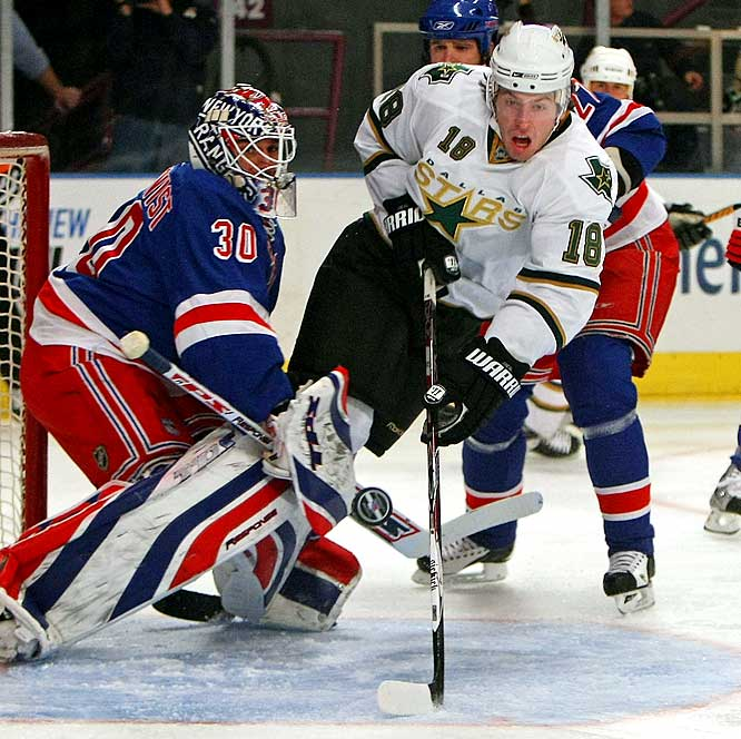 With Jere Lehtinen's return on the horizon, the Stars demoted Neal to the minors last week. It wasn't a knock on his play -- Neal was the easy choice because he would not have to clear waivers. In his 12 games to date, the big winger impressed with his grit along the boards and in the corners, and a surprisingly deft touch with the puck. Expect him back in Dallas soon, especially if, as expected, they deal a roster forward for defensive help.
