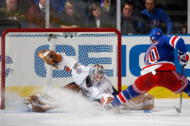 """Neither Mathieu Garon nor Dwayne Roloson offered the Oilers consistency or confidence in the early going. Enter Drouin-Deslauriers, whose size and economical style earned him victories in his first three starts. Three netminders, two jobs. A problem for the Oilers? Not at all. """"It never muddies the situation when a guy plays well,"""" coach Craig MacTavish said. With several teams putting out feelers for a proven goalie, look for Edmonton to deal a vet and create a full time spot for the rookie."""