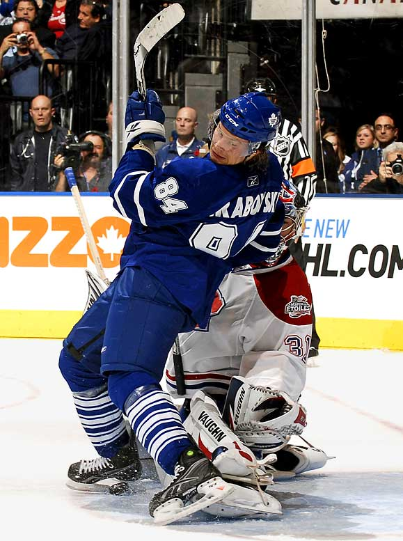 """His ex-mates in Montreal won't be sending Grabovski any Christmas cards. (""""He's not my friend anymore. I don't respect him,"""" said Sergei Kostitsyn after a recent game.). But he's winning plenty of admirers in Toronto. The flashy center leads all rookies with eight goals, and his play as Mats Sundin's de facto replacement has keyed the surprising start of the Maple Leafs."""