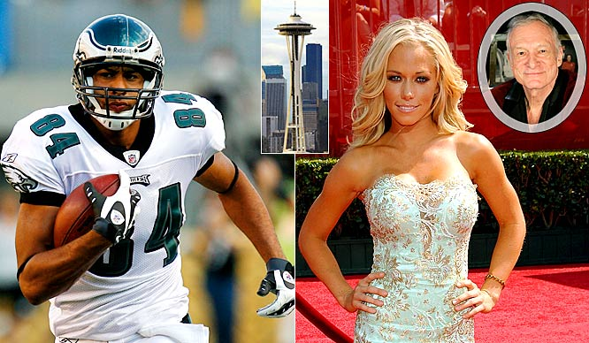 "Philadelphia Eagles receiver Hank Baskett only caught one pass for 25 yards against the Seahawks two weeks ago, but made his biggest play a day before the game. He took his girlfriend and ""The Girls Next Door"" co-star Kendra Wilkinson to the top of the Space Needle, got down on one knee and proposed. The shell-shocked Playmate said yes and they'll wed this summer. ""Kendra Wilkinson has met someone who she would like to spend the rest of her life with,"" says her former boyfriend and Playboy founder Hugh Hefner. ""I have given her my blessing and will be giving her away at a very special wedding ceremony at the Playboy Mansion this coming June."" Why do I get the feeling Baskett will regret the decision when he sees the other girls at the Mansion."