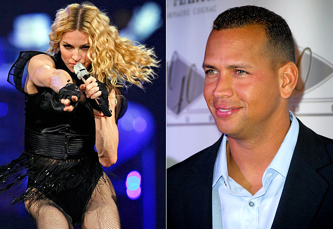 A-Rod was in the audience at Madonna's Dodger Stadium show last week and he's supposed to be following Madge to South America next month when she tours Brazil, Chile and Argentina. But don't think A-Rod still isn't playing the field. He's supposed to be at the Victoria's Secret Fashion show this week. It's one of the few big events in the Fall that A-Rod doesn't strike out at.