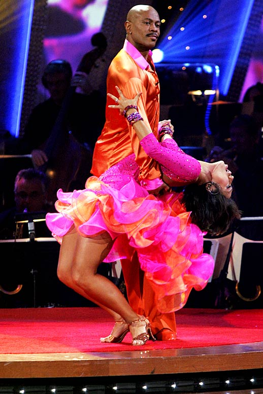 "The former Olympic gold medalist was eliminated before the semifinals of ""Dancing with the Stars,"" but was paid a big compliment by his dance partner, Cheryl Burke, who won the competition in previous years with Drew Lachey and Emmitt Smith. ""I have to say out of all the seasons I've been on the show Maurice, you've been the hardest working partner I've ever had,"" says Burke. ""You will always be the winner, winner chicken dinner of my heart."" I'm guessing a chicken dinner would be worth more than the gaudy disco ball trophy the winner gets, anyway."