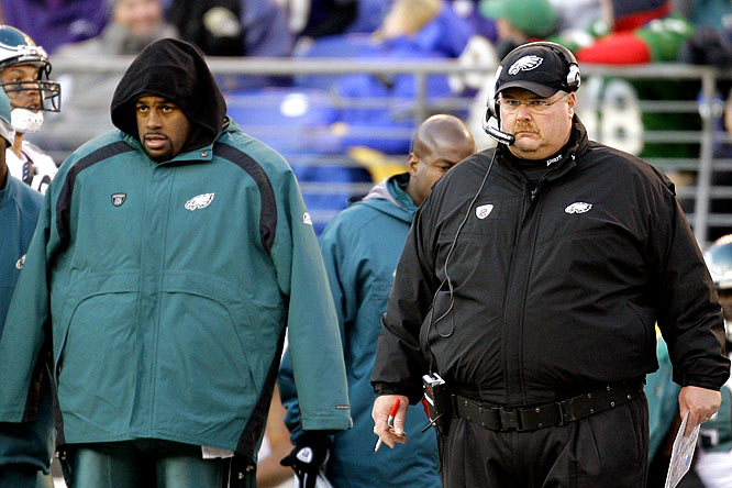 If the Eagles had an experienced quarterback behind McNabb, it would have made sense to throw him into the fire in Baltimore and see if he could save the season, but did Andy Reid really think Kevin Kolb, who had thrown nine career passes for zero touchdowns and one interception, would suddenly slice up the Ravens' defense with no practice? The bonehead move, combined with McNabb's struggles, likely signal the end of Reid's and McNabb's 10 years in Philadelphia.