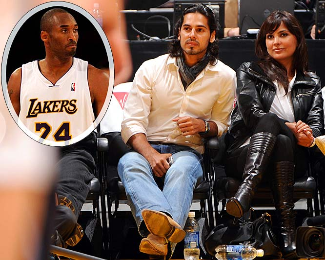 "India's version of Brad and Angelina were sitting courtside Sunday for the Lakers-Kings game and visited the Lakers' practice the next day, during which Kobe Bryant presented both with personalized jerseys. Dutta, a former Miss Universe, returned the favor by offering Bryant a role in her next film, saying she would teach him how to do one of her famous Bollywood dance numbers. ""I don't know about that,"" said Bryant, shaking his head. ""I don't think you want to see me dance."""