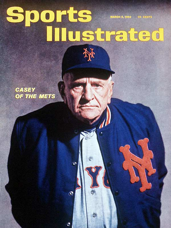 Casey Stengel was among baseball's most popular figures from his playing days with the Brooklyn Dodgers to his time managing in New York. This cover, shot during spring training in 1962, shows Stengel before his first season managing the Mets.