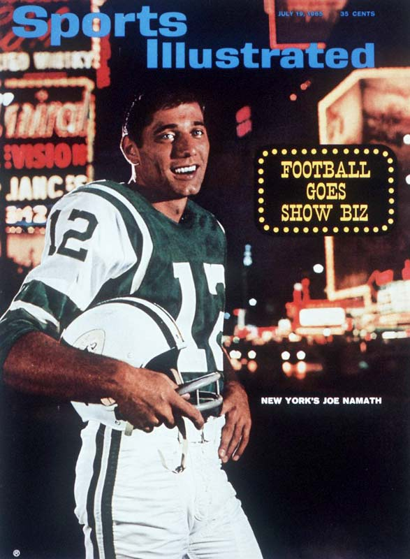 Despite suffering a serious knee injury during his senior season at Alabama, Joe Namath was selected in both the NFL and AFL drafts in 1964. He went on to sign, at the time, the richest contract in pro football history ($400,000), but provided immediate returns, winning the 1965 AFL Rookie of the Year Award.