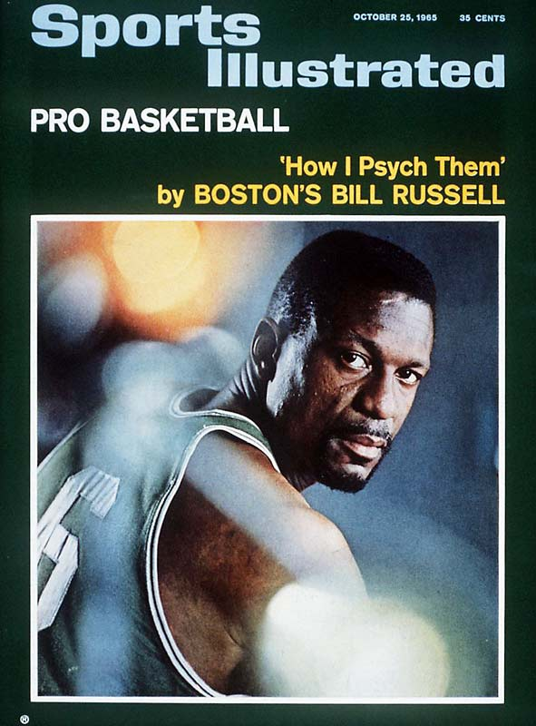 When Celtics center Bill Russell appeared on this 1965 cover, he had already earned eight championship rings. He went on to win a ninth that season, and two more before he retired. A five-time NBA MVP and 12-time All-Star, the 6-foot-10 Russell was the centerpiece of Boston's decade of dominance.