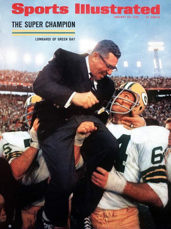 Two weeks after defeating the Cowboys in the Ice Bowl, the Green Bay Packers cruised to a 33-14 win over the Oakland Raiders in Super Bowl II. Packers players hoisted Vince Lombardi onto their shoulders after the game, which ended up being the last he would coach in Green Bay.