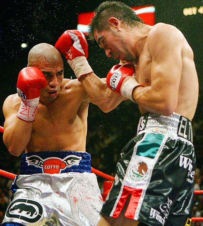 On July 26, a little more than a year after he had lost his WBO belt to Paul Williams, Antonio Margarito took on the undefeated WBA titleholder Miguel Cotto. After losing many of the early rounds, Margarito gained a second wind and was ahead on two of the judges' scorecards by the start of the 11th. The wavering recognition from the third judge was not needed, though, as Margarito finished off the champ by TKO that round.