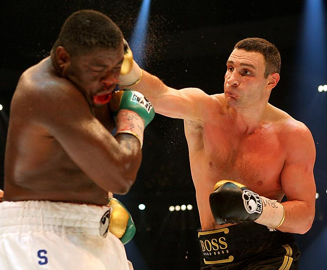 "It had been almost four years since Vitali Klitschko stepped away from the ring and vacated his WBC heavyweight title. But on Oct. 11, he took another stab boxing, agreeing to fight the then-No. 2 heavyweight of the world, Samuel Peter. ""Dr. Ironfist"" lived up to his nickname as he unleashed a slew of jabs and hard rights to down Peter by TKO in the eighth. With the win, Klitschko reclaimed his belt and made history -- never before had two brothers owned two world titles (his brother Wladimir is the IBF and WBO champ)."