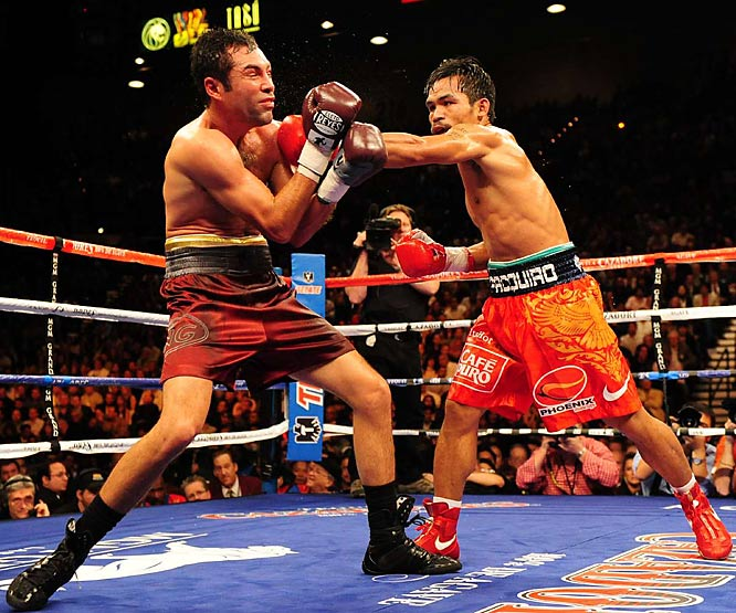 But Pacquiao was credited with landing 224 of 585 punches thrown in comparison to De La Hoya's 83 out of 402.