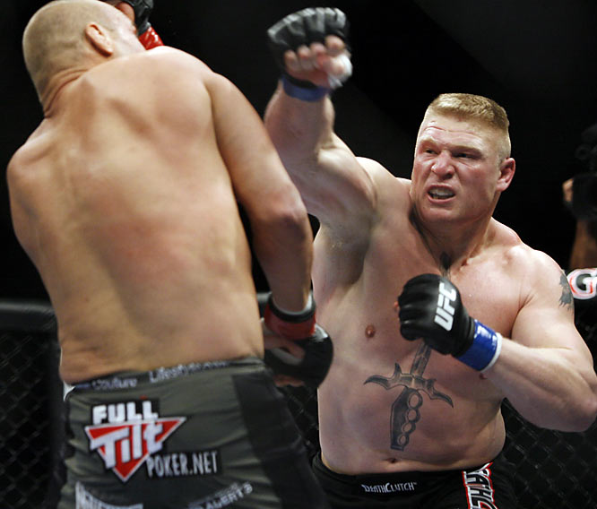 The mammoth heavyweight swarmed veteran Heath Herring for his first UFC win, and made for 90 of the most exciting seconds we might've seen this year in a loss to Frank Mir. Lesnar defeated Randy Couture to take a portion of the UFC title. Quite the introduction for a guy who immediately became a top pay-per-view draw for the UFC.