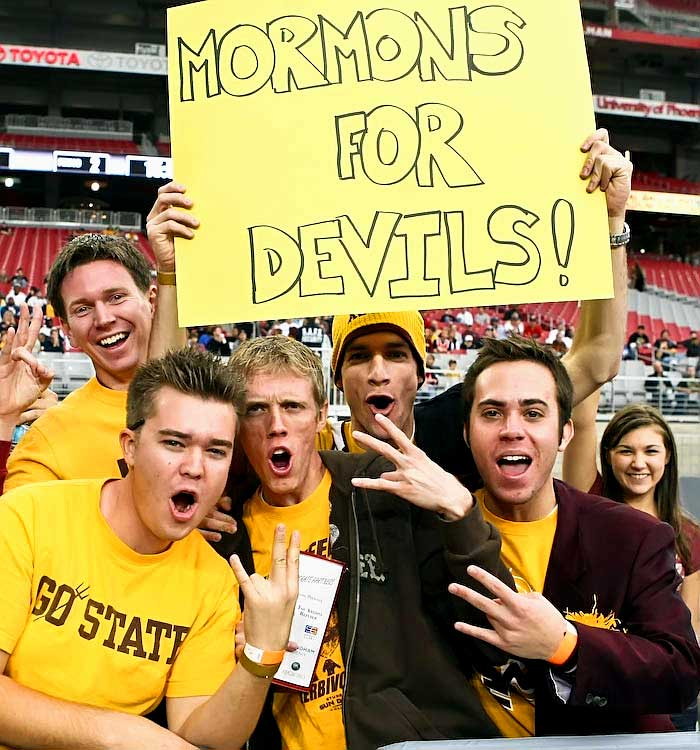 ASU students found it difficult not to make some religious jokes while playing BYU.