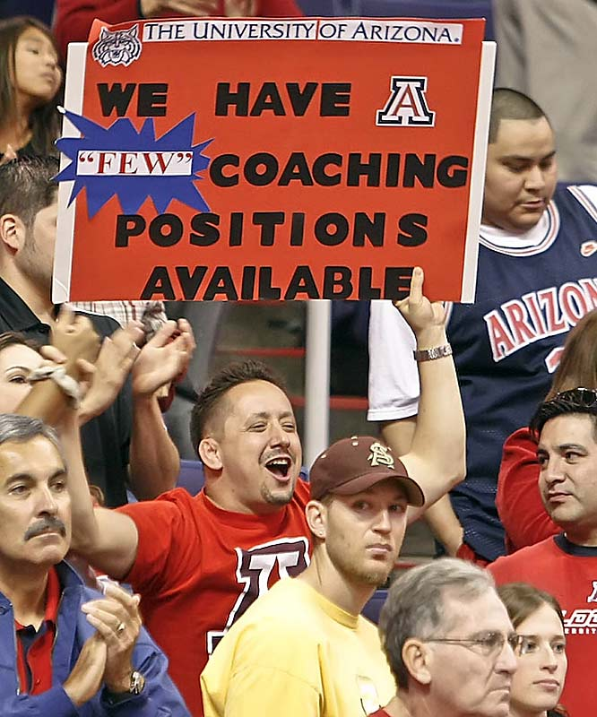 Arizona fans brought their best sign-making abilities with them to the Desert Classic.