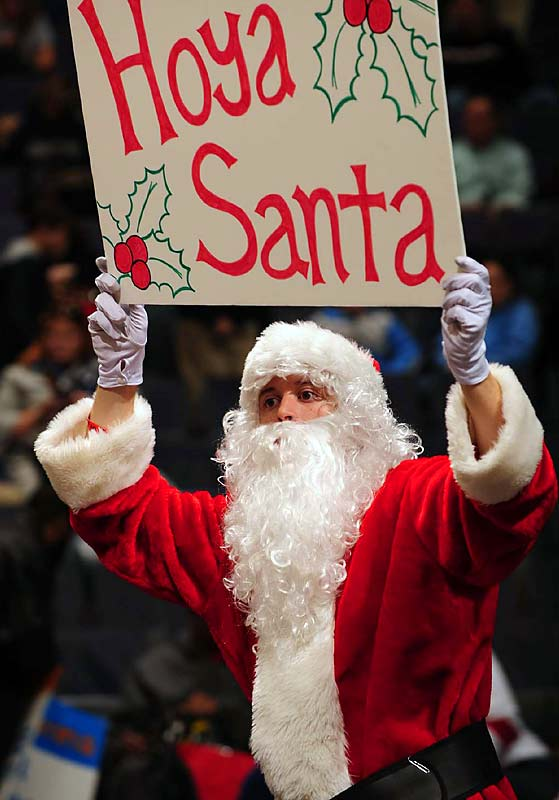 Apparently Santa is a Hoyas fan.