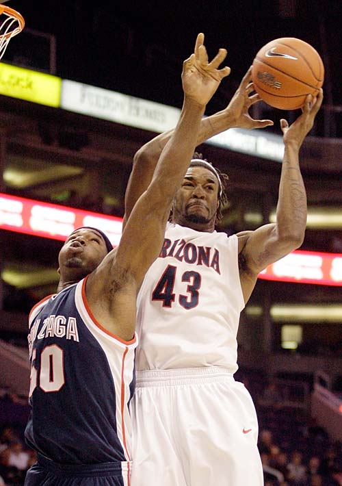 After a win over Gonzaga, Arizona made it back onto the national radar as a possible contender in the Pac-10. Going up against the defending national champs could help the Wildcats make a real statement that the loss of a coach and a few recruits isn't keeping them down as low as many thought they would go.  For Kansas, a win would be a nice way to cruise into a three-game homestand.
