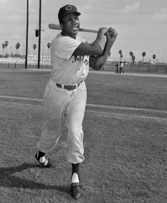 In an unanimous vote, Reds outfielder Frank Robinson is selected as the National League Rookie of the Year.