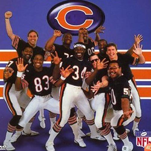 "The Chicago Bears Shufflin' Crew release the hit song,  ""Superbowl Shuffle."""