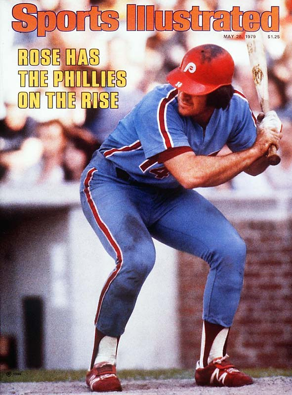 After sixteen years with the Reds, Pete Rose signs a four-year, $3.2 million deal with the Phillies.