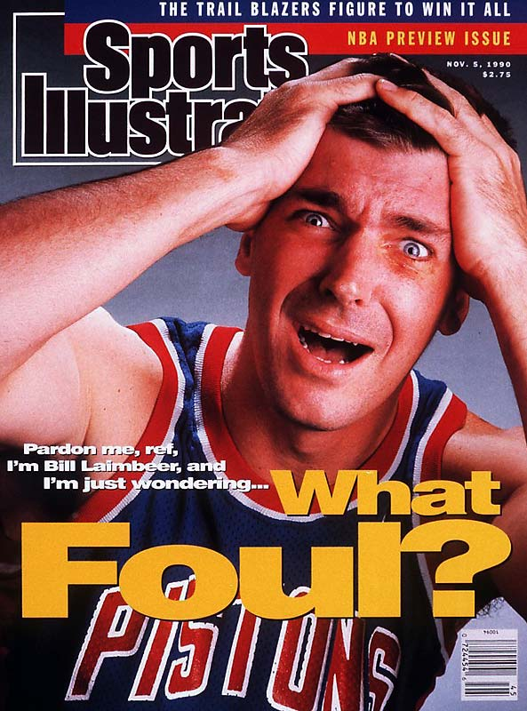 Detroit's Bill Laimbeer grabs 12 rebounds in the Pistons' 112-88 win over visiting Philadelphia, helping him to reach the 10,000 career rebound mark.