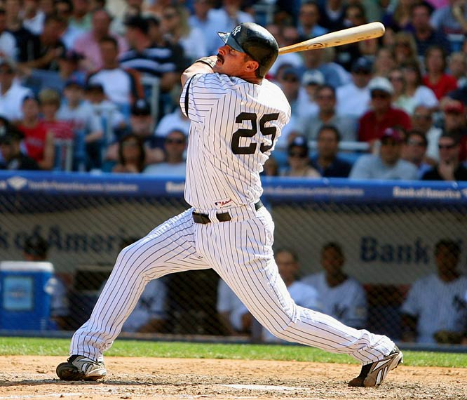 Since signing with the Yankees before the 2002 season, Giambi's numbers have fluctuated wildly. He's hit as many as 41 home runs, but also turned in batting averages of .208 and .236. Although he has battled injuries and was ensnared in the BALCO case, Giambi is still a legitimate power threat, as evidenced by his 32 home runs and 96 RBIs last season for New York.