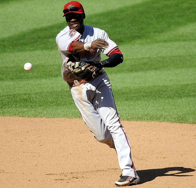 A three-time Gold Glove winner, Hudson is also a career-.282 hitter with some pop, having hit double-digit home runs in each season since 2004 (with the exception of his injury-shortened 2008). Hudson has been a sparkplug for the Blue Jays and Diamondbacks, and would solidify any team's defense up the middle.
