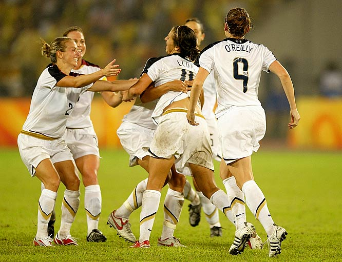 After losing 4-0 to Brazil at last year's World Cup, the American women got a shot at revenge in the gold medal match. Outplayed and overwhelmed for most of the match, Team USA kept the game scoreless until Carli Lloyd scored in the sixth minute of extra time --- giving the United States its 1,000th gold medal in Olympic history.