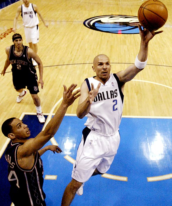 Jason Kidd will play his first game in New Jersey since being dealt to Dallas at the trade deadline last season. While Kidd had a terrific run with New Jersey, Nets fans aren't exactly lamenting his absence considering how well his replacement, Devin Harris, has played at point guard. Harris, the other key part of the Nets-Mavs trade, has joined with Vince Carter to form the NBA's highest-scoring backcourt.