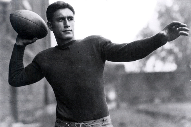 After a disappointing fourth 1928 season, Giants owner Tim Mara bought the entire squad of the Detroit Wolverines, principally to acquire star quarterback Benny Friedman (pictured), and merged the two teams under the Giants name. It worked.