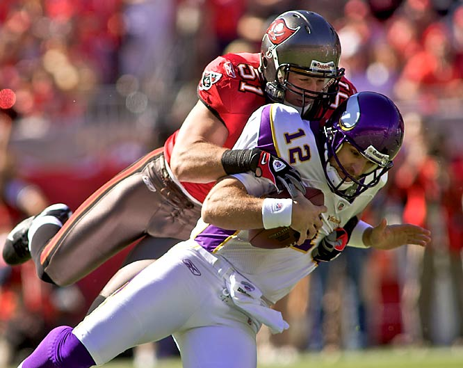 Derrick Brooks gets all the attention on the Bucs defense, but Ruud leads Tampa in tackles and is sixth in the league with 117.