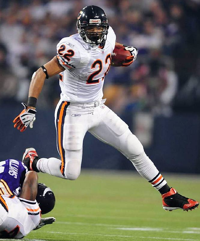 The Bears rookie running back has combined 1,539 total yards and 11 TDs, while Clinton Portis has 1,544 yards and seven TDs.