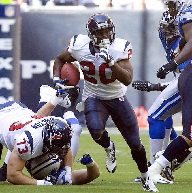Slaton is 7th in the NFL in rushing with 1,124 yards and probably deserved the nod over the Dolphins' Ronnie Brown.