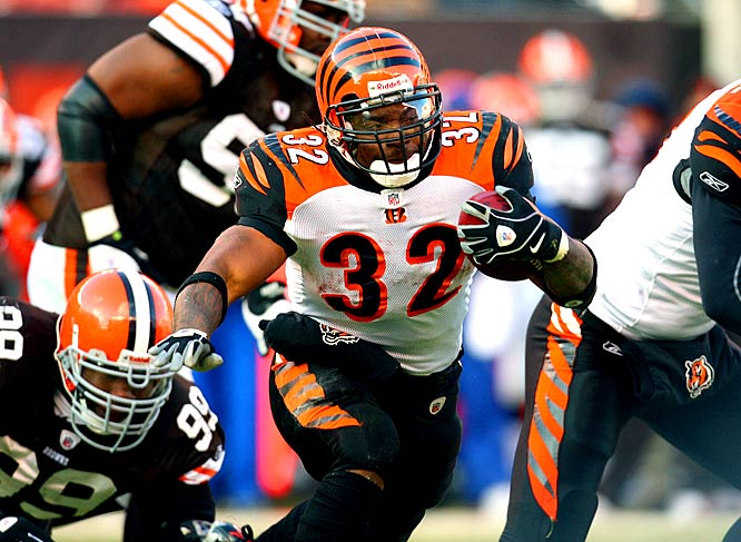 Benson rushed for a career-high 171 yards on 38 carries as the Bengals picked up their first road win of the season, a 14-0 victory over a fading and hapless Cleveland club.