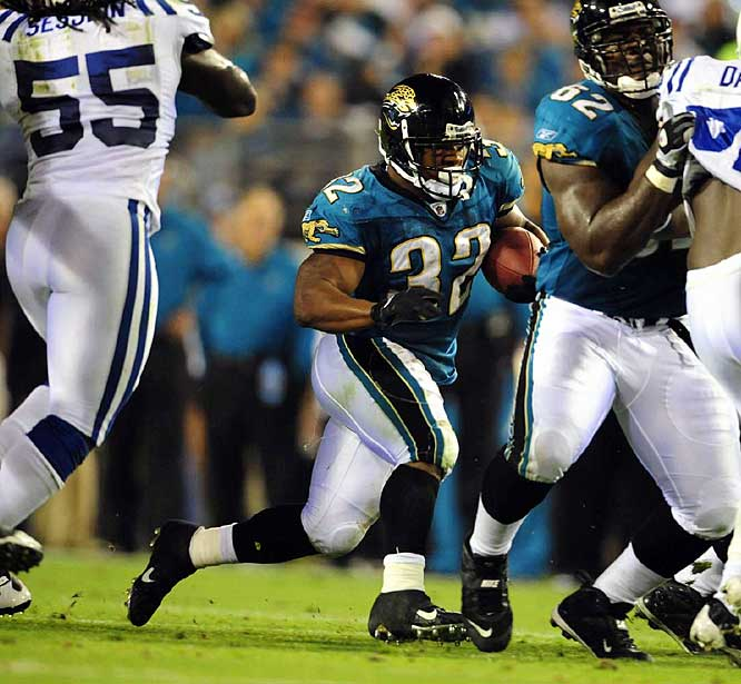 The Colts managed to keep Jones-Drew out of the end zone, but they couldn't stop him from racking up chunks of yardage. The Jags' running back ran 20 times for 91 yards and caught seven passes for 71 yards.