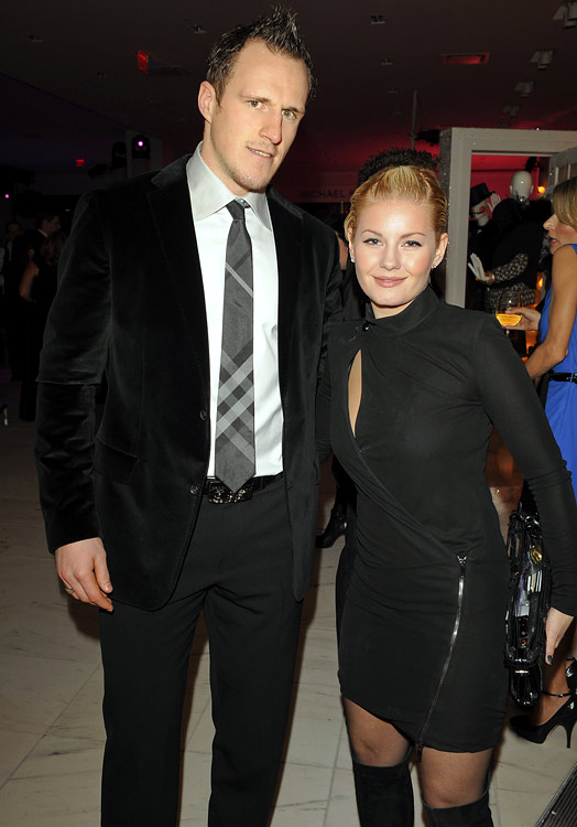 Phaneuf and Cuthbert began dating in 2008.