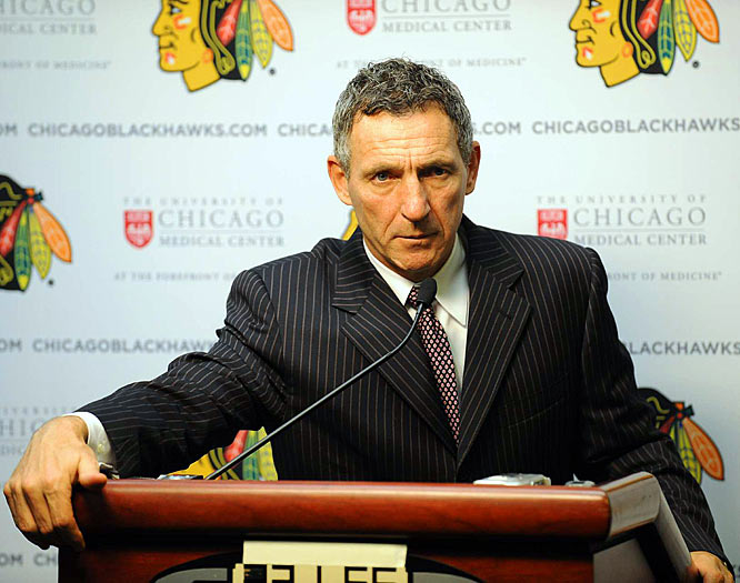 It took four games for the coaching carousel to start whirling again as the Blackhawks fired Denis Savard, only hours after the team beat Phoenix for its first win of the season. Savard, who was in the final year of his contract, had been told he had to start fast the young, promising Hawks. He was replaced by former Avs coach Joel Quenneville, but remained with the organization as an ambassador.