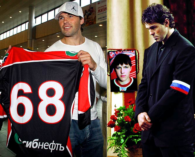 As rumored, Jagr parted with the Rangers and ended his 17-year NHL career by signing with Omsk of Russia's Kontinental Hockey League for two seasons and $25 million. The deep-pocketed KHL challenged the NHL for talent and world supremacy, throwing down the gauntlet by signing Alex Radulov, who was under contract to the Predators. The KHL was embroiled in another controversy when Rangers prospect Alexei Cherepanov, 19, died during a game on Oct. 13. The KHL was accused of overlooking his heart condition.