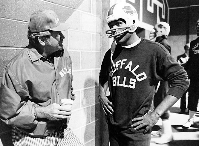 Simpson would stay nine seasons in Buffalo, playing for coaches Lou Saban and Jim Ringo (pictured). Simpson rushed for 10,183 yards and 57 touchdowns during his time in Buffalo.