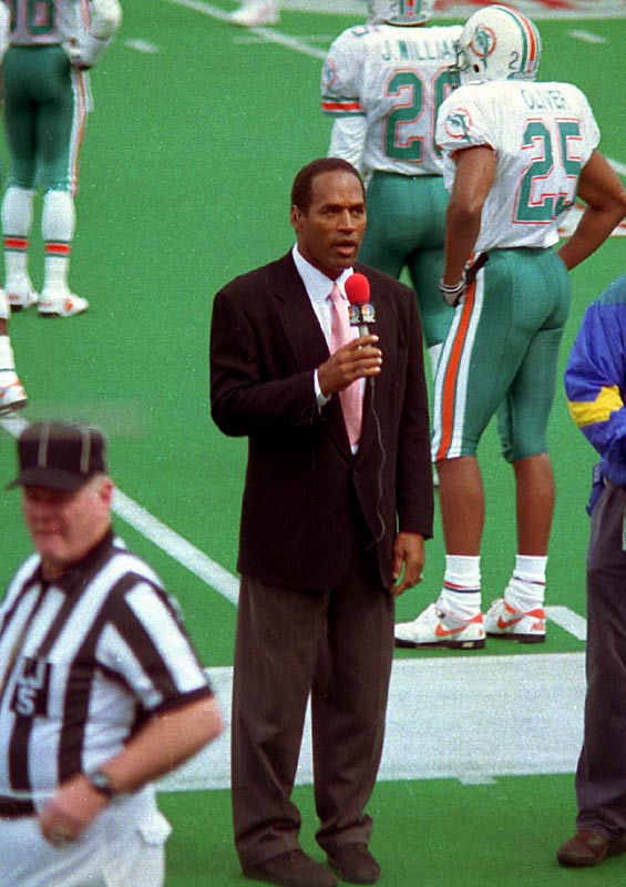 In addition to his post-football career in Hollywood, Simpson worked as a commentator for Monday Night Football and The NFL on NBC.