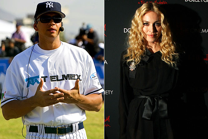 "Despite being spotted with Madonna in New York, Miami and Mexico City, A-Rod said he and the singer are just friends. ""We're friends -- that's it,"" Rodriguez said. ""I can tell you this; I have never been on a plane with her."" By the way, in celebrityspeak, ""just friends"" is short for ""a couple that isn't ready to go public yet."""
