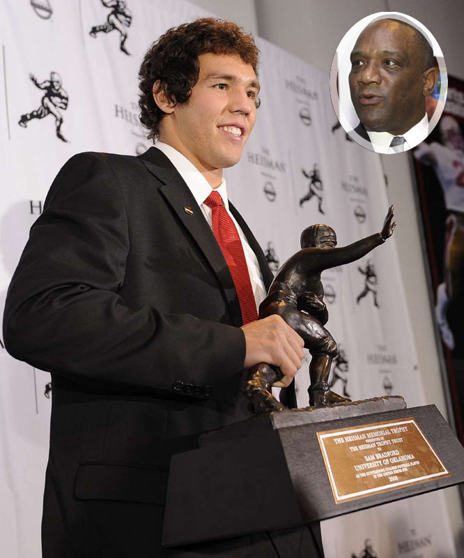 "As classy as Bradford seems, didn't you wish he would have started his Heisman acceptance speech by telling Billy Sims to shut up after the 11th time he screamed ""Boomer!"" at the top of his lungs? We get it Billy, you won the Heisman 30 years ago, now please let someone else enjoy the spotlight for a night."