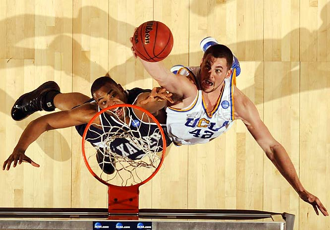 UCLA's Kevin Love goes up for a rebound.